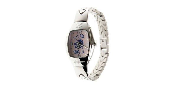 Dámské ocelové hodinky Oxbow se světle fialovým ciferníkem