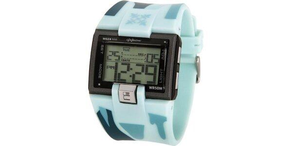 Pánské sportovní digitální hodinky Oxbow s modrým řemínkem