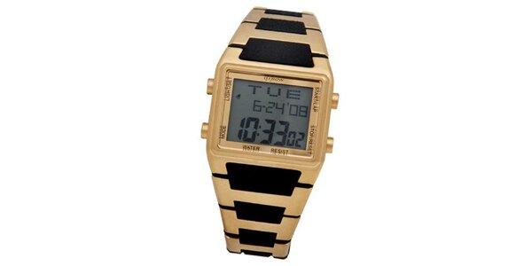 Pánské zlaté digitální retro hodinky Oxbow