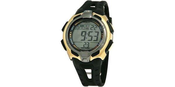 Černé digitální hodinky Oxbow