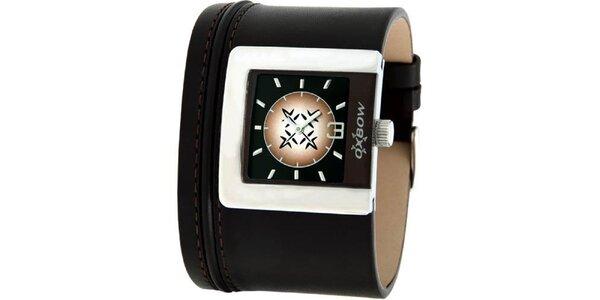 Dámské hnědé analogové hodinky Oxbow