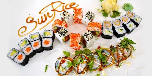 Sushi sety s 20 až 38 kousky vč. vegetariánského