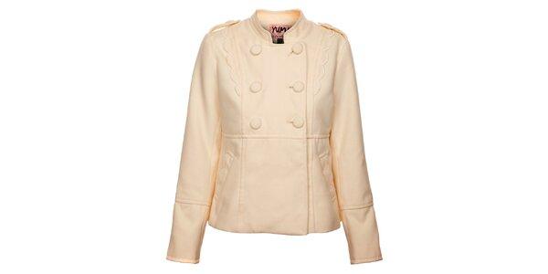 Dámský krémový kabátek Yumi
