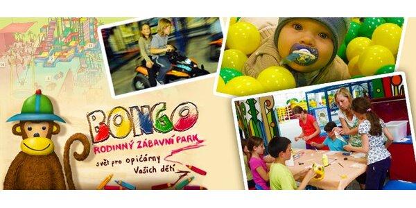 289 Kč za celodenní rodinné vstupné do zábavního parku Bongo!