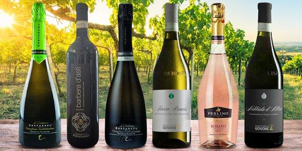 Italská vína všech barev: balení po 2–3 láhvích