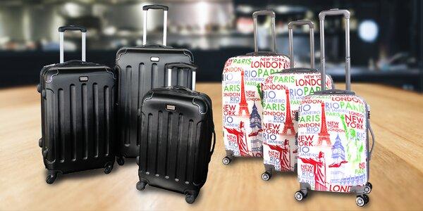 Kufry na kolečkách ve třech velikostech