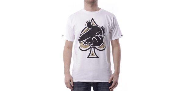 Pánské bílé tričko Crooks & Castles s potiskem