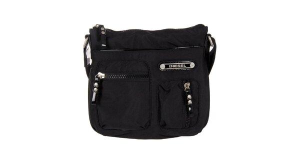 Černá taška přes rameno Diesel