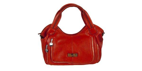 Dámská červená kabelka s dvojitým zipem Diesel