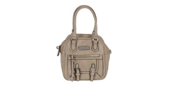 Dámská šedo-béžová kabelka s přezkami Diesel