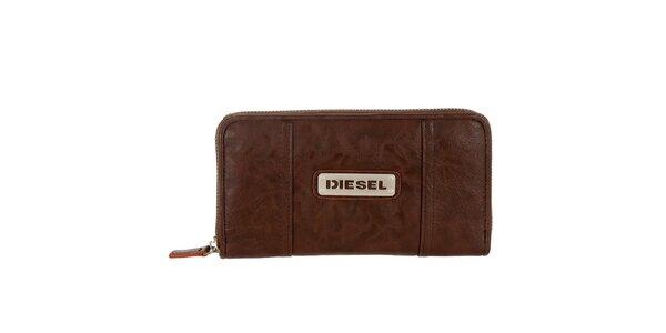 Dámská kaštanově hnědá peněženka Diesel