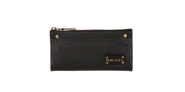 Dámská černá kožená peněženka Diesel