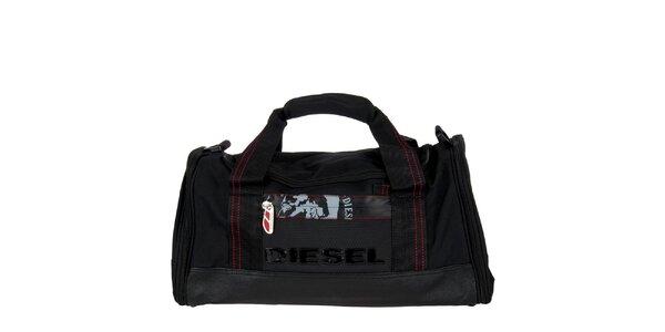 Menší černá sportovní taška Diesel
