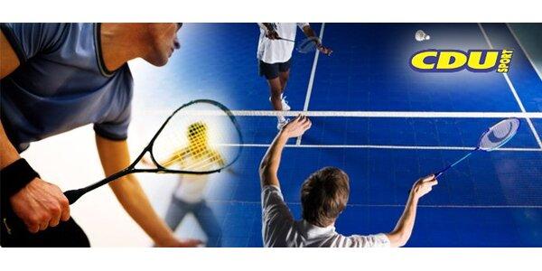 139 Kč za pronájem squashového nebo badmintonového kurtu na jednu hodinu.