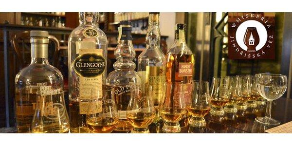285 Kč za 5 panáků prvotřídní skotské whisky v jedinečné Whiskerii!