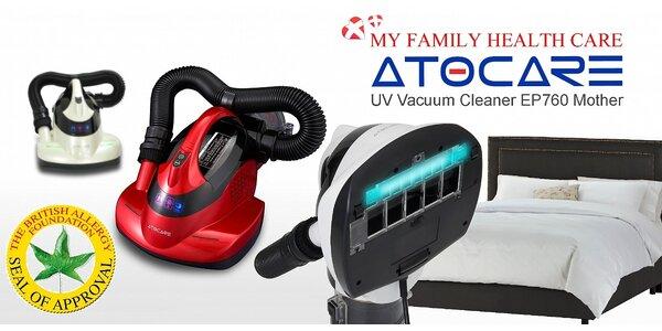 Revoluční UV-C antibakteriální vysavač Atocare. Domov bez roztočů a bakterií.