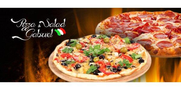 2 italské pizzy s sebou nebo dovoz až domů či do práce
