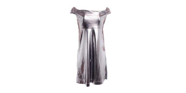 Dámské stříbrné šaty Miss Sixty