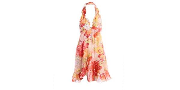 Dámské letní šaty s růžovým vzorkem Miss Sixty