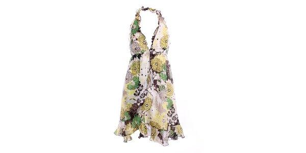 Dámské letní šaty se zeleným vzorkem Miss Sixty