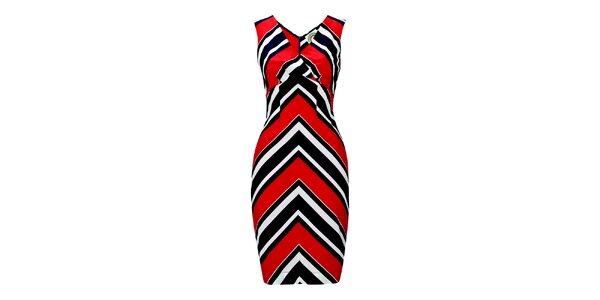 Dámské červeno-bílé šaty s pruhy Fever