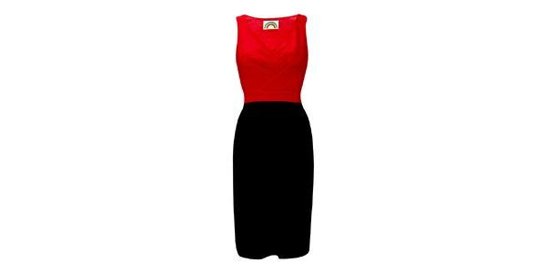 Dámské červeno-černé pouzdrové šaty Fever