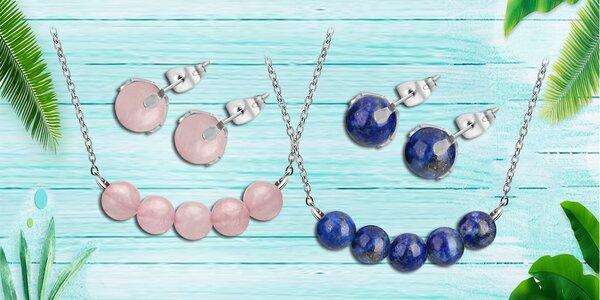 Ocelové sety Gemstone Beads s přírodními kameny