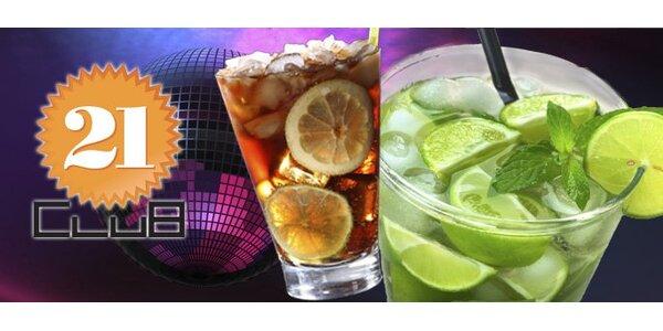 89 Kč za TŘI míchané drinky Cuba Libre nebo Mojito v legendárním Clubu 21.