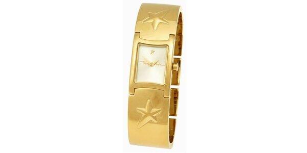Dámské ocelové zlaté náramkové hodinky Thierry Mugler