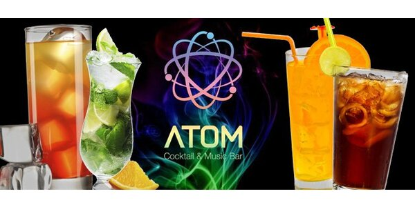 129 Kč za ČTYŘI míchané nápoje ve skvělém Atom baru!