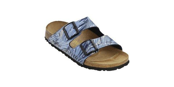 Dámské modré zebrované pantofle Papillio