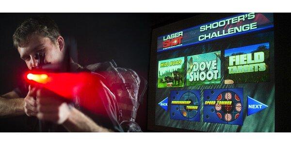 Hodina střelby laserovou zbraní pro DVA