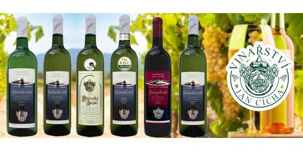 6 vín z Blatnice - Vinařství Jan Cícha