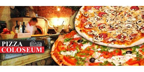 149 Kč za DVĚ jakékoli pizzy v hodnotě až 338 Kč v pizzerii Coloseum.