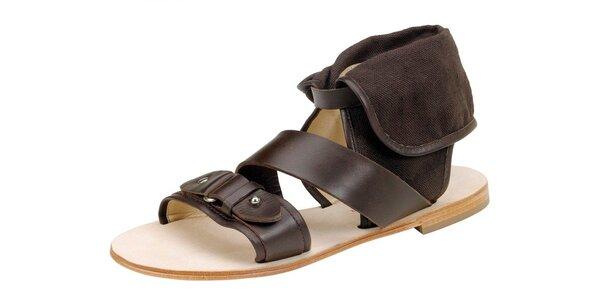 Dámské tmavě hnědé sandále Paul & Joe Sister