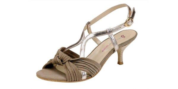 Dámské béžovozlaté sandále Paul & Joe Sister