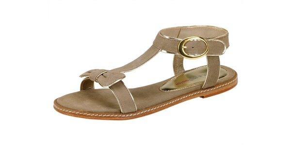 Dámské béžové semišové sandále Paul & Joe Sister