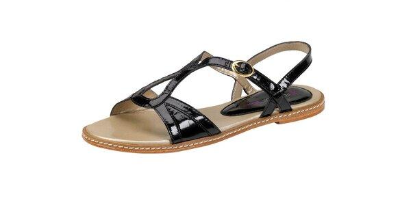 Dámské černé lesklé sandále Paul & Joe Sister