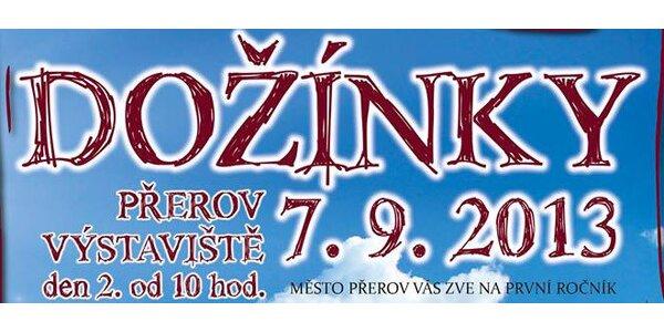 2 vstupenky na Dožínky v Přerově - Chinaski a další!