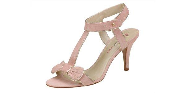 Dámské světle růžové sandále Paul & Joe Sister s mašličkou