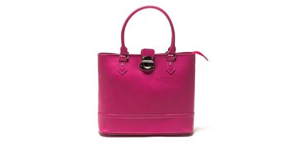 Dámská fuchsiová kabelka se zámečkem Sonia Ricci