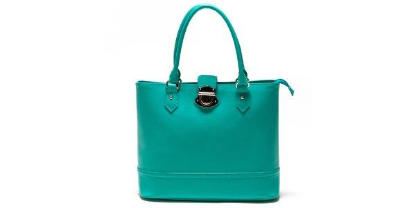 Dámská tyrkysová kabelka se zámečkem Sonia Ricci