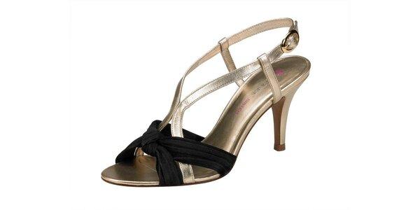 Dámské černo-zlaté sandále Paul & Joe Sister na vysokém podpatku