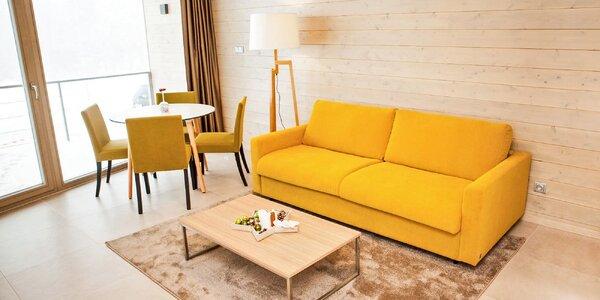 Podzim i zima v designovém apartmánu v Krkonoších