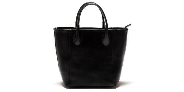 Dámská černá kožená kabelka Sonia Ricci