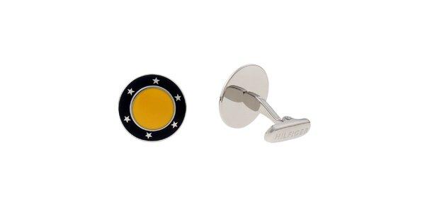 Dámské žluto-černé manžetové knoflíky Tommy Hilfiger
