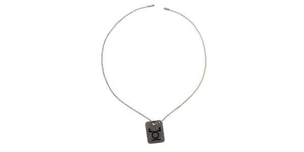Dámský náhrdelník s obdélníkovým přívěskem Emporio Armani