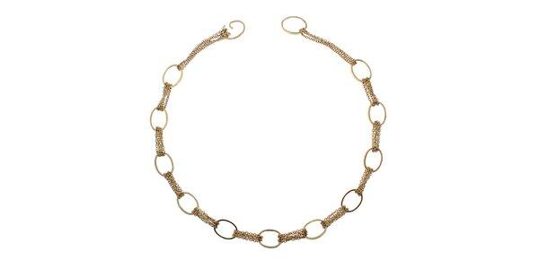 Dámský zlatý náhrdelník s kruhy Emporio Armani