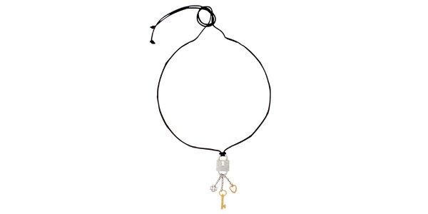 Dámský náhrdelník se zámkem s klíčky Miss Sixty