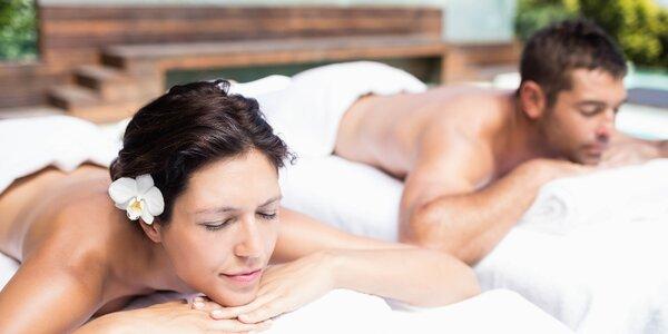 60minutová párová masáž dle vlastního výběru